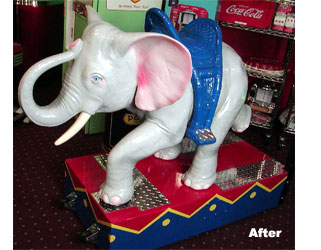 Coin Op Elephant Ride