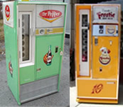 Restored 60&#39's Square Top Soda Vending Machine